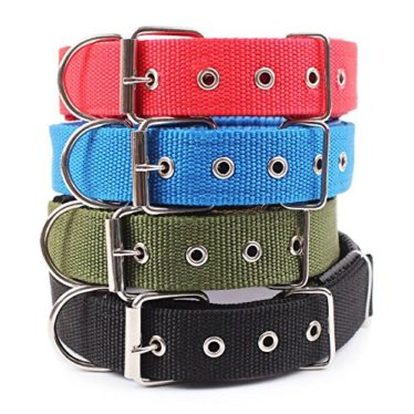 Dog Collar Nylon Neoprene Padded Dog Collar Classic Comfort Adjustable Sizes